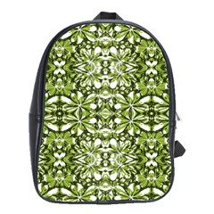 Stylized Nature Print Pattern School Bag (large) by dflcprints