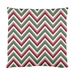 Chevron Blue Pink Standard Cushion Case (one Side) by snowwhitegirl