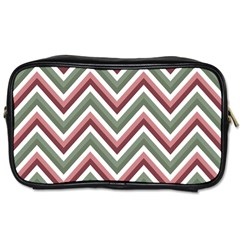 Chevron Blue Pink Toiletries Bags 2 Side by snowwhitegirl