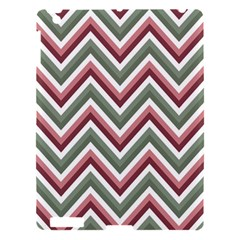 Chevron Blue Pink Apple Ipad 3/4 Hardshell Case by snowwhitegirl
