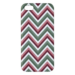Chevron Blue Pink Apple Iphone 5 Premium Hardshell Case by snowwhitegirl