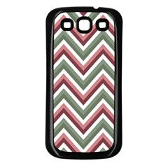 Chevron Blue Pink Samsung Galaxy S3 Back Case (black) by snowwhitegirl