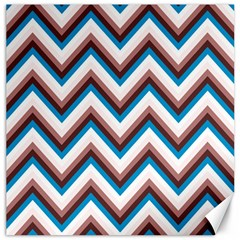 Zigzag Chevron Pattern Blue Magenta Canvas 12  X 12