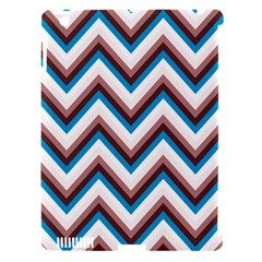 Zigzag Chevron Pattern Blue Magenta Apple Ipad 3/4 Hardshell Case (compatible With Smart Cover) by snowwhitegirl