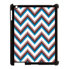 Zigzag Chevron Pattern Blue Magenta Apple Ipad 3/4 Case (black)