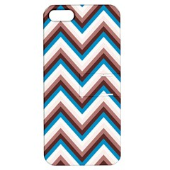 Zigzag Chevron Pattern Blue Magenta Apple Iphone 5 Hardshell Case With Stand by snowwhitegirl