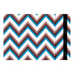 Zigzag Chevron Pattern Blue Magenta Apple Ipad Pro 10 5   Flip Case by snowwhitegirl