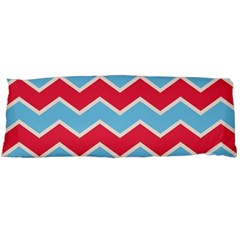 Zigzag Chevron Pattern Blue Red Body Pillow Case Dakimakura (two Sides) by snowwhitegirl