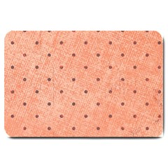 Dot Peach Large Doormat  by snowwhitegirl