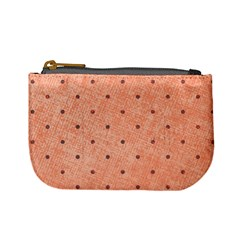 Dot Peach Mini Coin Purses by snowwhitegirl