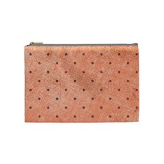 Dot Peach Cosmetic Bag (medium)
