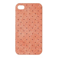 Dot Peach Apple Iphone 4/4s Hardshell Case by snowwhitegirl