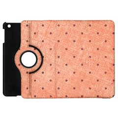 Dot Peach Apple Ipad Mini Flip 360 Case by snowwhitegirl