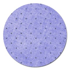 Dot Blue Magnet 5  (round)