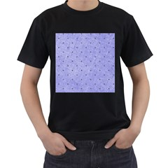Dot Blue Men s T-shirt (black) (two Sided) by snowwhitegirl