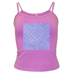 Dot Blue Dark Spaghetti Tank