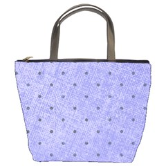 Dot Blue Bucket Bags