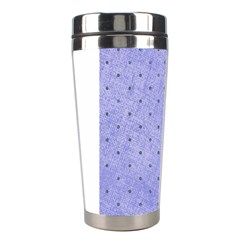 Dot Blue Stainless Steel Travel Tumblers by snowwhitegirl
