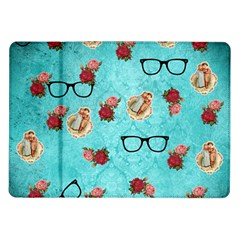 Vintage Glasses Blue Samsung Galaxy Tab 10 1  P7500 Flip Case by snowwhitegirl