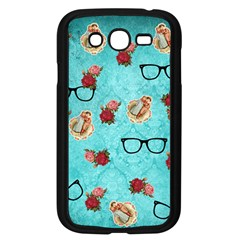 Vintage Glasses Blue Samsung Galaxy Grand Duos I9082 Case (black) by snowwhitegirl