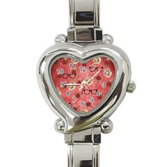 Vintage Glasses Rose Heart Italian Charm Watch by snowwhitegirl