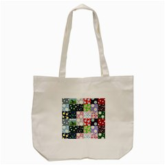 Dino Quilt Tote Bag (cream)