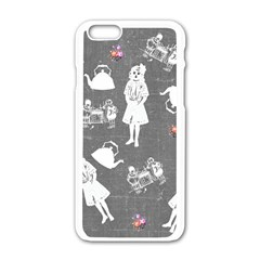 Chalkboard Kids Apple Iphone 6/6s White Enamel Case by snowwhitegirl
