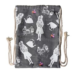 Chalkboard Kids Drawstring Bag (large)