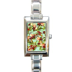 Fruit Blossom Rectangle Italian Charm Watch