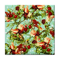 Fruit Blossom Tile Coasters by snowwhitegirl