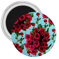 Roses Blue 3  Magnets