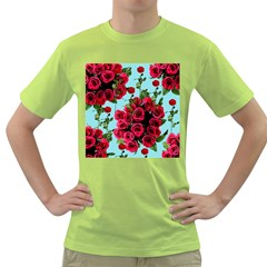 Roses Blue Green T-shirt