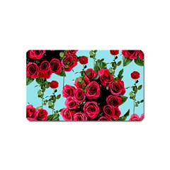 Roses Blue Magnet (name Card)