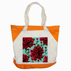 Roses Blue Accent Tote Bag