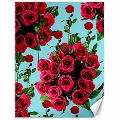 Roses Blue Canvas 12  X 16   by snowwhitegirl