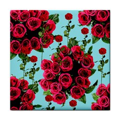 Roses Blue Face Towel