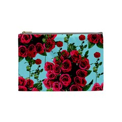 Roses Blue Cosmetic Bag (medium)