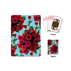 Roses Blue Playing Cards (mini)