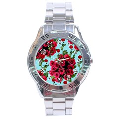Roses Blue Stainless Steel Analogue Watch