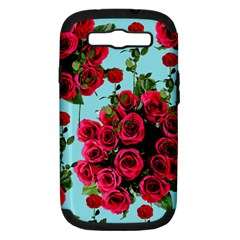 Roses Blue Samsung Galaxy S Iii Hardshell Case (pc+silicone) by snowwhitegirl