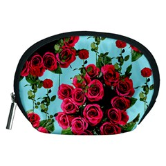 Roses Blue Accessory Pouches (medium)  by snowwhitegirl