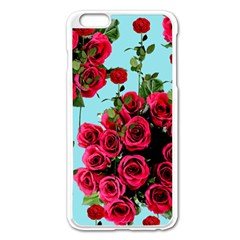 Roses Blue Apple Iphone 6 Plus/6s Plus Enamel White Case by snowwhitegirl