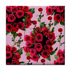 Roses Pink Tile Coasters