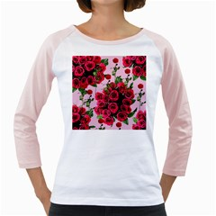 Roses Pink Girly Raglans