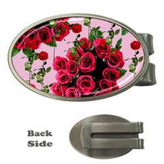 Roses Pink Money Clips (oval)