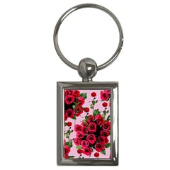 Roses Pink Key Chains (rectangle)  by snowwhitegirl