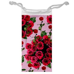 Roses Pink Jewelry Bag
