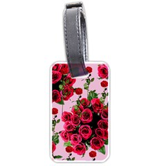 Roses Pink Luggage Tags (one Side)  by snowwhitegirl