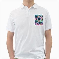 Floral Waves Golf Shirts