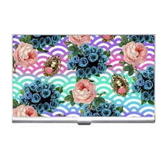 Floral Waves Business Card Holders by snowwhitegirl